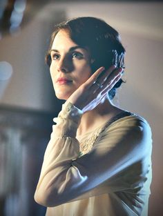 Lady Mary Crawley in her new bob haircut! After all, it is the 1920's!