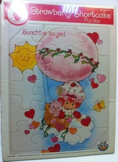 Vintage 1983 Frame Tray Puzzle Strawberry Shortcake American Greetings Sunshine - SOLD - Please see other items for sale!
