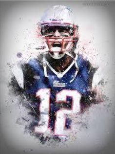 Tom Brady, New England Patriots - Designing Sport Chelsea Football, Football Art, Football Memes, New England Patriots Football, Patriots Fans, Tom Brady Nfl, Hockey, Sports Painting, Superbowl Champions