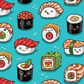 Cute kawaii sushi by penguinhouse