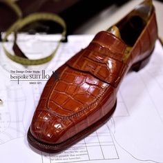 Cognac Crocodile Loafer
