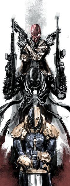 Red Hood / Agent Venom / Deathstroke by naratani on deviantART