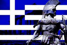 'Greek flag Warrior ' Metal Print by 827 Photography Greece Flag, Macedonia Greece, Archaeology, Old Photos, Captain America, Mythology, Darth Vader, Superhero, History