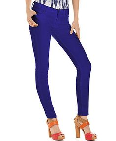 7 For All Mankind, The Skinny Purple Wash Colored Denim -