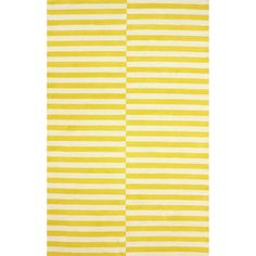 nuLOOM Hand-tufted Modern Stripes Yellow New Zealand Wool Area Rug