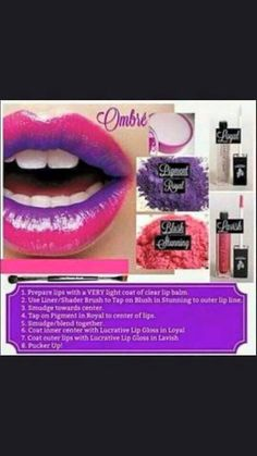 Ombre Lips - how to achieve the look! Easy and super effective  <3
