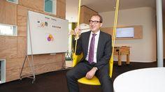 Das mobile, flexible Whiteboard der Design Thinking Line im SAP Innovation Center.
