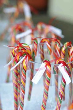Tableau de mariage con bastoncini di zucchero - tableau de mariage with candy canes