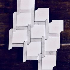 White Thassos and Carrara Bianco Marble Waterjet Mosaic Tile in Princess Weave Carrara Marble Bathroom, Marble Mosaic, Mosaic Tiles, Marble Floor, Mosaic Wall, Shower Floor Tile, Bathroom Floor Tiles, Wall Tile, Arabesque Tile Backsplash