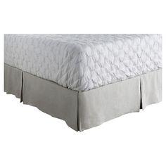 Bilzen Luxury Bedding Skirt (Full/Queen) Dove - Surya, Dove White