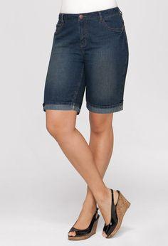 Plus Size Cuffed Denim Short | Plus Size Denim | Avenue