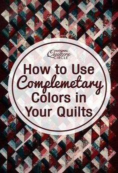 Complementary color schemes are the most sophisticated of the color schemes and also the most challenging. Using complementary colors without blending them can lead to a very strong, almost confrontational contrast. Blending the colors makes the quilt pleasant and chic.