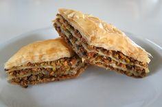 Baklava.  You may also substitute the Pistachios with Walnuts or Pecns, or do a mixture!