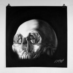"Charcoal Skull Illusion - Newcastle artist Tom French has a skill for figurative drawing. Carefully, he combines photorealism and surrealism to create beautiful charcoal drawings...of skulls! His profile on Flickr shares, ""French's work often treads the fine line between the beautiful and unsettling, combining technically tight, classical charcoal drawings with carefree, loose and ostensibly unfinished abstract forms."" What do you think of these daring pieces?"