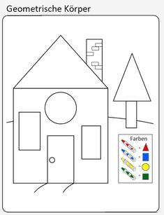 Shapes Worksheet Kindergarten, Shapes Worksheets, Kindergarten Math Worksheets, Preschool Learning Activities, Preschool Activities, Kids Learning, Kindergarten Portfolio, Kids Education, Kids And Parenting