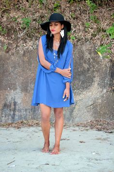 #summer #praia #look #dressblue #blue #fashionbloguer #blog #fashion