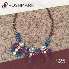 J. Crew Factory Statement Necklace Fun statement necklace to brighten up any outfit! Wardrobe clean-out: everything must go this week!!! J. Crew Factory Jewelry Necklaces