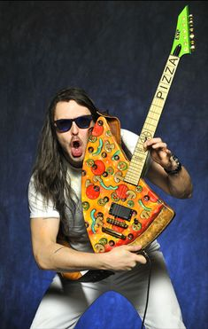 Pizza Guitar, Andrew W.K.'s Custom Pizza Slice Electric Guitar