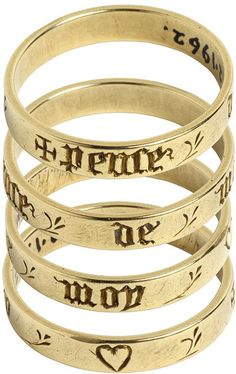 Posy ring, inscribed pense de moy ('think of me'), made in France or England c.1400-1500