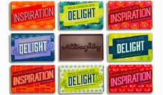 WilloDelights by Willoughby Design , via Behance Packaging Design Inspiration, Graphic Design Inspiration, Creative Inspiration, Design Ideas, Cool Typography, Communication Art, Chocolate Packaging, Chocolate Factory, Marketing Materials