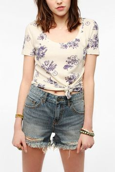 BDG Printed Scoopneck Tee @Amanda Snelson Snelson Hoefling would like this