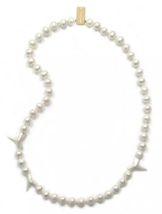 Pearl and Shark Teeth Necklace - NDS Collection Store
