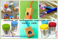 Construye los instrumentos musicales para tu clase o salón Instruments, Baby Music, Music Class, Life Organization, Recycled Crafts, Speech And Language, Kids And Parenting, Ideas Para, Craft Projects