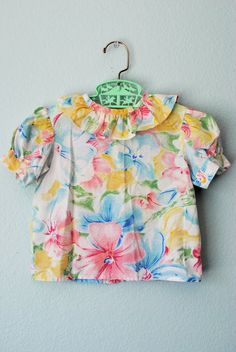 vintage toddler girl floral short outfit by 3RingCircus on Etsy