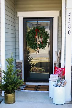 Holiday Decorating, Porch Decorating, Christmas Decorations, Decorating Ideas, Christmas Books, Christmas Time, Spruce Tree, Birch Lane, Book Crafts
