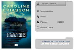 Livros e marcadores: Desaparecidos de Caroline Eriksson