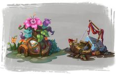 ArtStation - Cartoon scene, cong lee