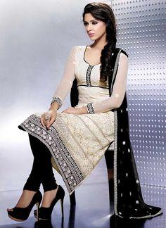 Ravishing Cream Churidar Suit