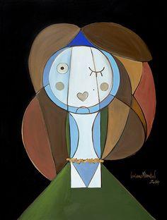 Luciano Martins, Mujer con collar amarillo (Releitura de Picasso)