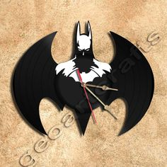Wall Clock Batman Clock Vinyl Record Clock home par geoartcrafts