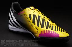 adidas Predator Absolado LZ TRX Turf football trainers. These adidas Absolado astro turf trainers have deadly looks and a synthetic-leather upper with 5 lethal zones made from a mix of TPU with 3D print. This design will help to perfect your technique.