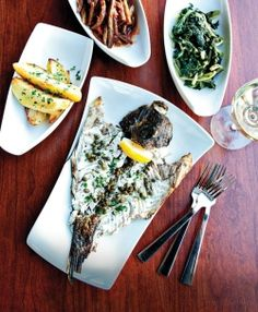 Eating Greek in Harbor East. Ouzo Bay. Photo by Scott Suchman. Originally published in the December 2012 issue of Baltimore magazine.