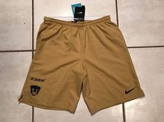 Rare NWT NIKE DRI-FIT Pumas UNAM GOLD Soccer Shorts Men's Medium  | eBay
