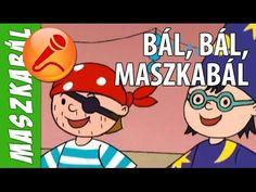 Gryllus Vilmos:  Bál, bál, maszkabál - KARAOKE (animáció, gyerekdal)