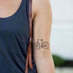tattoo bike - Bedrooms For Girls Cycling Tattoo, Bicycle Tattoo, Bike Tattoos, Tribal Tattoos, Tatoos, Cross Tattoos, Custom Temporary Tattoos, Custom Tattoo, Classic Tattoo