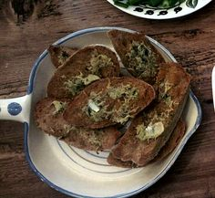 Brunch: thyme and garlic bread