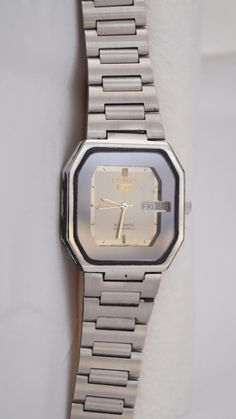 GENUINE RARE VINTAGE GENTS MEN SEIKO 5 AUTOMATIC GREY WATCHJAPAN SEALED 49 #SEIKO5 #Dress