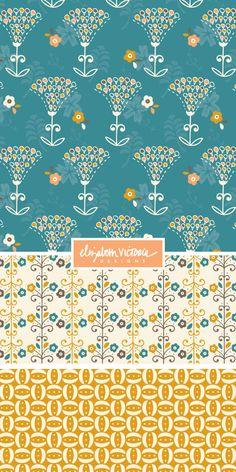 Paramount Collection // Surface Pattern Design by Beth Schneider - Elizabeth Victoria Designs