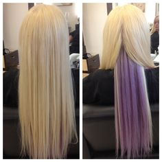 perfect place to put a little bit of hair coloring for the summer. good idea.