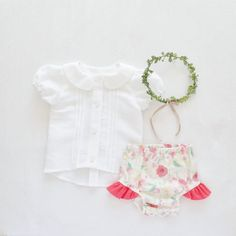Girls 1st Birthday Outfit Cake Smash Outfit Blouse by moonroomkids