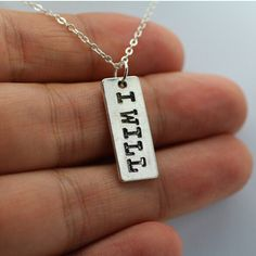 Finished Antique I Will Hand Stamped Bodybuilder Crossfit Chain Necklaces Jewelry