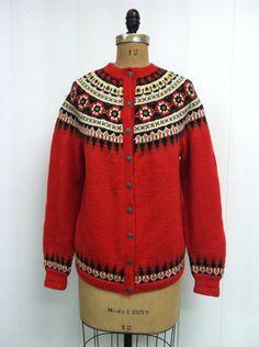 Fair Isle Norwegian Wool Sweater by CreatedAndCollected on Etsy