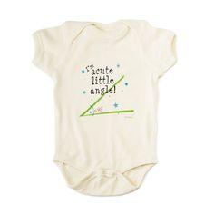 ACUTE ANGLE BABYSUIT | unisex baby clothes, tiffany ard, nerdy onesies | UncommonGoods