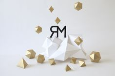 Raum Mannheim   Papercraft by Carolin Wanitzek, via Behance