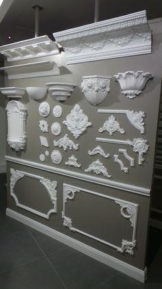corniches, moulures et appliques réalisées dans notre atelier.