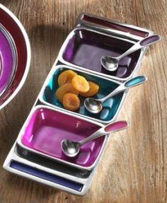 Made in Rajasthan, India from recycled aluminium this dip and nibbles tray will be a hit at any party